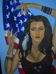 Con su bandera que ama. Karlo Paul Vega Riofrio