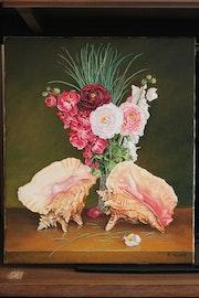 Coquillages et fleurs.
