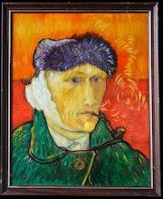 Van Gogh Selbstporträt mit verbundenem Ohr (oder Der Mann mit der Pfeife) Handge. Frédéric Brizaud