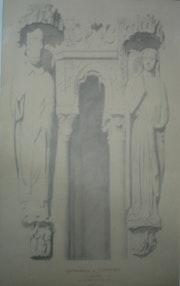 Cathédrale de Chartres : groupe du porche Nord;. Historien d'art, Archéologue; Chercheur Free-L.
