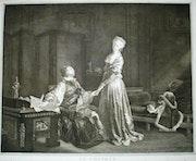 Le Contrat, d'après Fragonard. Historien d'art, Archéologue; Chercheur Free-L.