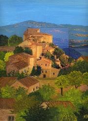 Village escarpé / Peinture en extension. Mariraff