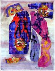 Fragments d'espérance, acrylique. Rémy Nicolas