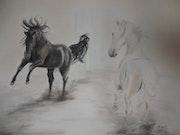 Quand deux chevaux se rencontrent. Myriam Michelin