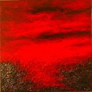 Un ciel rouge et noir qui épaissit le ciel fonce sur la planète… A red sky.