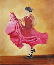 La danseuse de Flamenco.