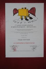 Diplome d'honneur 2011 à monaco. Claude Sauvage
