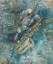 Blue saxo. Valérie Crochard