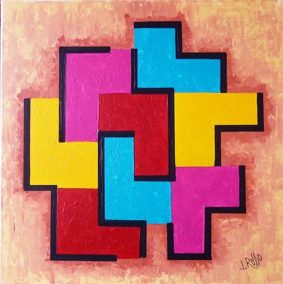 Abstait geometrique n ° 17. Jacques Rosso Jacques Rosso