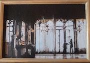 Cendrillon dans la salle de bal. Anne-Marie Vandorpe Deligne
