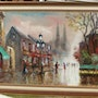 Paris street scene. Oil on canvas.. Bert Veenema