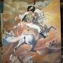 Officier de chasseurs a cheval chargeant. Norac