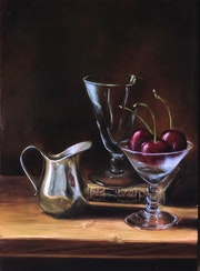 Still Life with cherries.