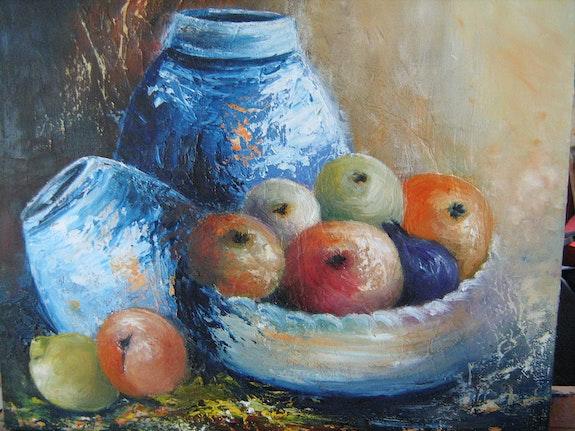 Nature morte aux fruits d'automne. Daniele Jondeau Dany