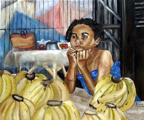 La petite vendeuse de banane. Lanto R.