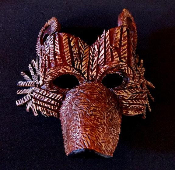 Masque de Brun, l'ours. Isabelle Le Pors Isabelle Le Pors