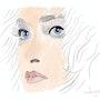 Femme aux cheveux courts. Jean-Jacques Copetta