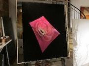 Ma fleur de Trèfle sur sa feuille spatiale.