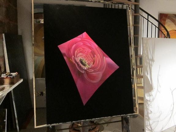 Ma fleur de Trèfle sur sa feuille spatiale. Lawrence Nurtel Frédéric Letrun