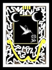 Illustration imprimée sur toile - style graffiti- Mister Punk «Colibri».