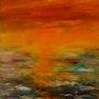 Mer irisée (huile). Claire Limozin