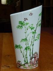 Paysage chinois, par Plume Magicienne, Peintre Xieyi sur Porcelaine. Plume Magicienne