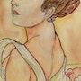 «Summer» de Mucha. A l'aquarelle. Ghislaine Phelut
