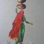 Porteuse d'eau au Radjastan. Renée Lefeuvre