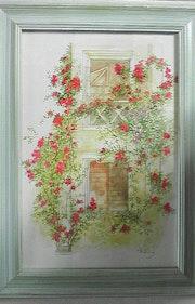 Tour envahie de roses dans le château de Montreuil belay.