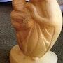 Vierge aux raisins en buis. Françoise Faucher-Moreau