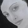 Visage de femme edwige. Bernard Ochietti