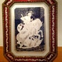 Old Picture In Etched Glass Decorated And Dragon Sant Jordi (St. George. Antiguedadesoratam
