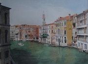 Venise - Grand Canal, vue du Rialto.