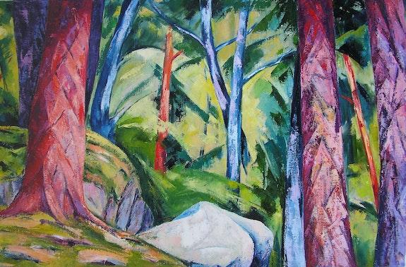 Dans les bois.  Guy Buecher