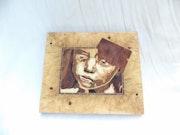 Petite fille triste. Bv Sculpture Art