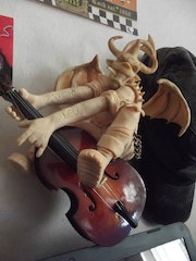 A Devil and a contrabass.