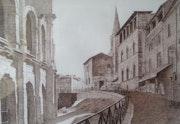 Arles - Montée des arènes.
