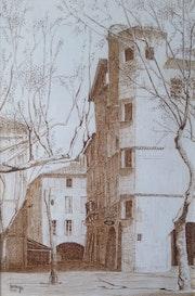 Uzès - Place aux Herbes.