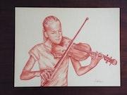 Ma fille onze ans au violon..