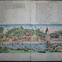 Doppelseitige Stadtansicht Ulm, Schedel'sche Weltchronik 1493, koloriert. Thomas Kern