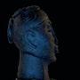 Clay sculpture of a female head - Saada. Tando
