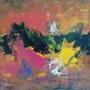 Peinture abstraite composition 15. Bernard Ochietti