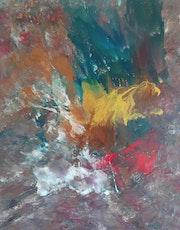 Peinture abstraite composition 17.