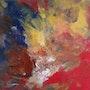Peinture abstraite composition25. Bernard Ochietti