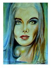 Femme bleue. Jean-Paul Verdenal