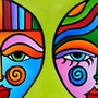 Delicate Balance - Original Abstract painting Modern pop Art by Fidostudio. Fidostudio.com