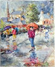 Bréles couleur de pluie aquarelle.