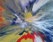 Peinture abstraite composition 5bis.