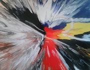 Peinture abstraite composition 7bis.