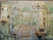 Decoration de murs peints a la main.
